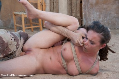 Photo number 12 from Operation Desert Anal: A Feature Presentation: Two Beautiful Girls Brutally Fucked in the Desert shot for Sex And Submission on Kink.com. Featuring James Deen, Casey Calvert  and Lyla Storm in hardcore BDSM & Fetish porn.