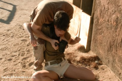 Photo number 7 from Operation Desert Anal: A Feature Presentation: Two Beautiful Girls Brutally Fucked in the Desert shot for Sex And Submission on Kink.com. Featuring James Deen, Casey Calvert  and Lyla Storm in hardcore BDSM & Fetish porn.