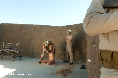 Photo number 3 from Operation Desert Anal: A Feature Presentation: Two Beautiful Girls Brutally Fucked in the Desert shot for Sex And Submission on Kink.com. Featuring James Deen, Casey Calvert  and Lyla Storm in hardcore BDSM & Fetish porn.