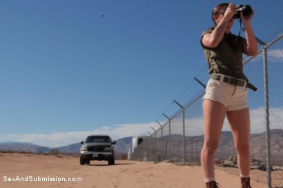 Photo number 1 from Operation Desert Anal: A Feature Presentation: Two Beautiful Girls Brutally Fucked in the Desert shot for Sex And Submission on Kink.com. Featuring James Deen, Casey Calvert  and Lyla Storm in hardcore BDSM & Fetish porn.