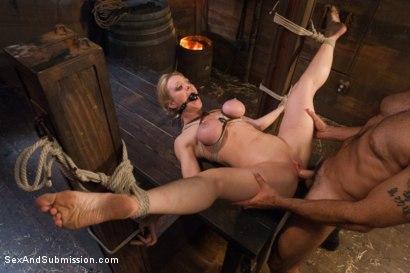 Photo number 13 from The Slave Auction: Darling Gets Ass Fucked in Strict Bondage!  shot for Sex And Submission on Kink.com. Featuring Dee Williams and Steven St. Croix in hardcore BDSM & Fetish porn.