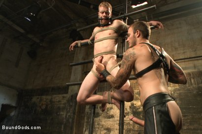"Photo number 5 from ""You're no longer human today. You're my object!"" shot for Bound Gods on Kink.com. Featuring Liam Harkmoore and Christian Wilde in hardcore BDSM & Fetish porn."