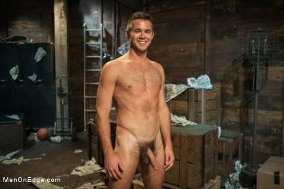 Photo number 15 from Hung stud with a giant cock relentlessly edged against his will shot for Men On Edge on Kink.com. Featuring Mike de Marko in hardcore BDSM & Fetish porn.
