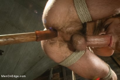 Photo number 10 from Hung stud with a giant cock relentlessly edged against his will shot for Men On Edge on Kink.com. Featuring Mike de Marko in hardcore BDSM & Fetish porn.