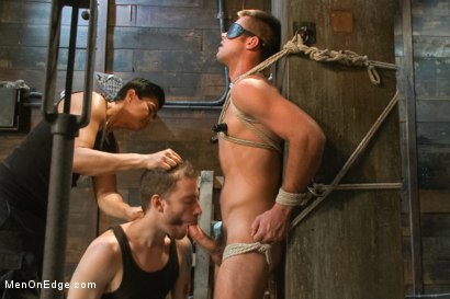 Photo number 7 from Hung stud with a giant cock relentlessly edged against his will shot for Men On Edge on Kink.com. Featuring Mike de Marko in hardcore BDSM & Fetish porn.