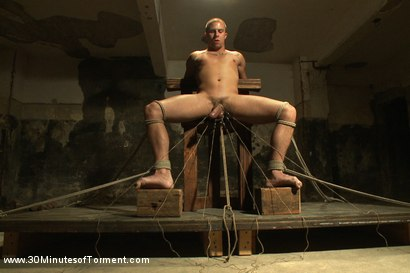 Photo number 2 from Straight stud takes clover clamps to the balls shot for 30 Minutes of Torment on Kink.com. Featuring Shawn Fox in hardcore BDSM & Fetish porn.