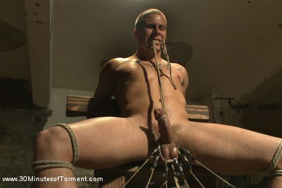 Photo number 1 from Straight stud takes clover clamps to the balls shot for 30 Minutes of Torment on Kink.com. Featuring Eli Hunter in hardcore BDSM & Fetish porn.