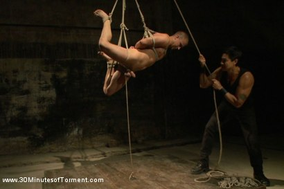 Photo number 11 from Straight stud takes clover clamps to the balls shot for 30 Minutes of Torment on Kink.com. Featuring Eli Hunter in hardcore BDSM & Fetish porn.