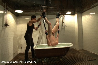 Photo number 10 from The Challenge for Doug Acre shot for 30 Minutes of Torment on Kink.com. Featuring Doug Acre in hardcore BDSM & Fetish porn.