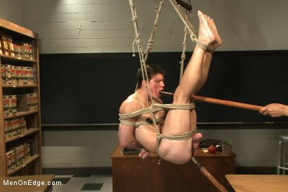 Photo number 9 from Hot student taken down and edged in the classroom shot for Men On Edge on Kink.com. Featuring Tyler Sweet in hardcore BDSM & Fetish porn.