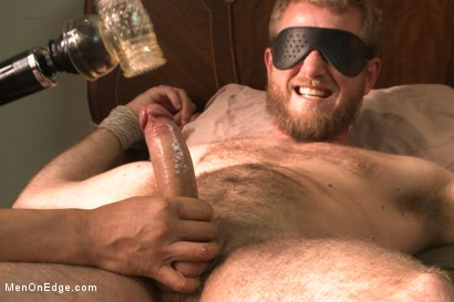Photo number 13 from Hairy dude gets his uncut cock edged! shot for Men On Edge on Kink.com. Featuring Drake Temple in hardcore BDSM & Fetish porn.
