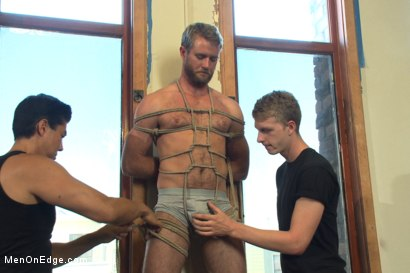Photo number 1 from Hairy dude gets his uncut cock edged! shot for Men On Edge on Kink.com. Featuring Drake Temple in hardcore BDSM & Fetish porn.