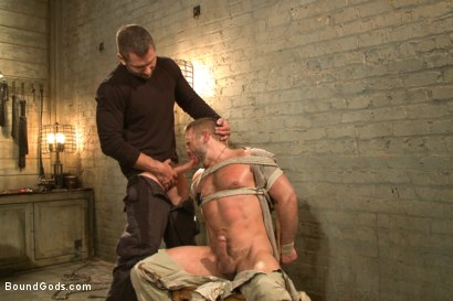 Photo number 3 from The Terrorist's Ransom shot for Bound Gods on Kink.com. Featuring Andrew Justice and Dirk Caber in hardcore BDSM & Fetish porn.