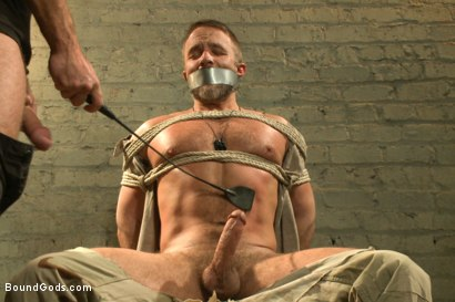 Photo number 2 from The Terrorist's Ransom shot for Bound Gods on Kink.com. Featuring Andrew Justice and Dirk Caber in hardcore BDSM & Fetish porn.