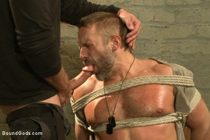 Photo number 4 from The Terrorist's Ransom shot for Bound Gods on Kink.com. Featuring Andrew Justice and Dirk Caber in hardcore BDSM & Fetish porn.