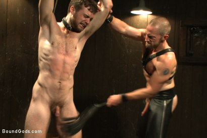 Photo number 9 from A new boy taken to the limits shot for Bound Gods on Kink.com. Featuring Adam Herst and Brandon Moore in hardcore BDSM & Fetish porn.