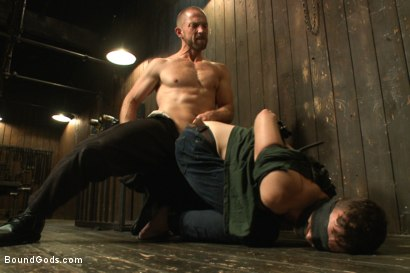 Photo number 7 from A new boy taken to the limits shot for Bound Gods on Kink.com. Featuring Adam Herst and Brandon Moore in hardcore BDSM & Fetish porn.