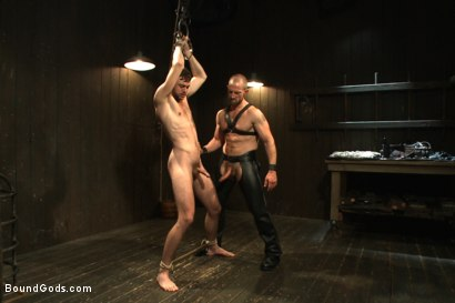 Photo number 8 from A new boy taken to the limits shot for Bound Gods on Kink.com. Featuring Adam Herst and Brandon Moore in hardcore BDSM & Fetish porn.