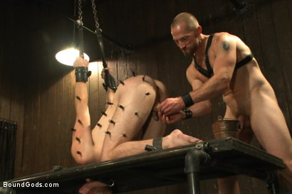 Photo number 11 from A new boy taken to the limits shot for Bound Gods on Kink.com. Featuring Adam Herst and Brandon Moore in hardcore BDSM & Fetish porn.