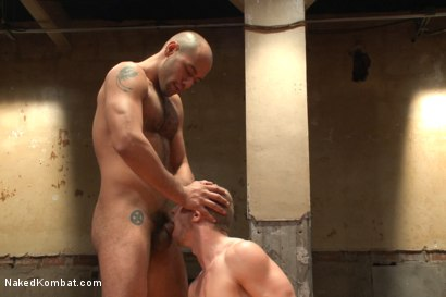Photo number 9 from Last Semifinal Match of Naked Kombat's Summer Smackdown Tournament!  shot for Naked Kombat on Kink.com. Featuring Leo Forte and Randall O'Reilly in hardcore BDSM & Fetish porn.