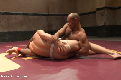 Photo number 2 from Last Semifinal Match of Naked Kombat's Summer Smackdown Tournament!  shot for Naked Kombat on Kink.com. Featuring Leo Forte and Randall O'Reilly in hardcore BDSM & Fetish porn.
