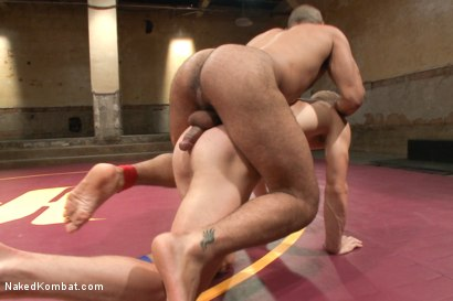 Photo number 8 from Last Semifinal Match of Naked Kombat's Summer Smackdown Tournament!  shot for Naked Kombat on Kink.com. Featuring Leo Forte and Randall O'Reilly in hardcore BDSM & Fetish porn.