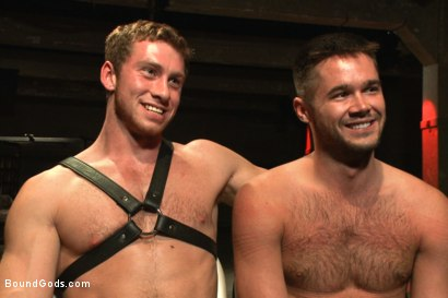 Photo number 15 from Huge cock boy bound, beaten and fucked  shot for Bound Gods on Kink.com. Featuring Connor Maguire and Mike de Marko in hardcore BDSM & Fetish porn.