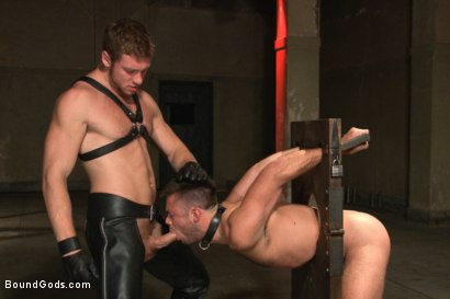 Photo number 5 from Huge cock boy bound, beaten and fucked  shot for Bound Gods on Kink.com. Featuring Connor Maguire and Mike de Marko in hardcore BDSM & Fetish porn.