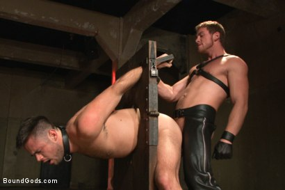 Photo number 7 from Huge cock boy bound, beaten and fucked  shot for Bound Gods on Kink.com. Featuring Connor Maguire and Mike de Marko in hardcore BDSM & Fetish porn.