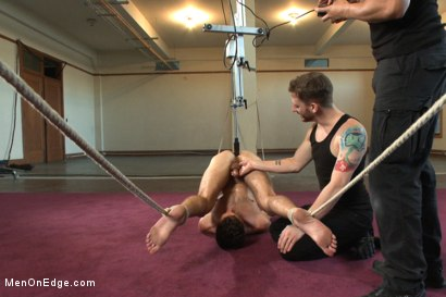 Photo number 12 from Brandon Moore edged and fucked by a Shockspot machine shot for Men On Edge on Kink.com. Featuring Brandon Moore in hardcore BDSM & Fetish porn.