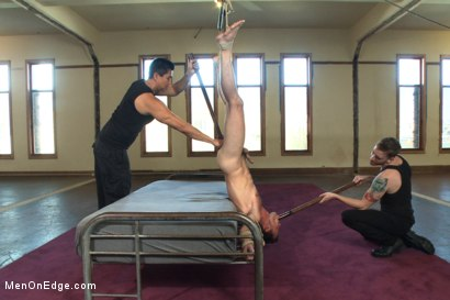 Photo number 9 from Brandon Moore edged and fucked by a Shockspot machine shot for Men On Edge on Kink.com. Featuring Brandon Moore in hardcore BDSM & Fetish porn.