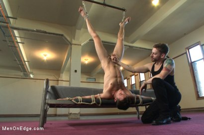 Photo number 10 from Brandon Moore edged and fucked by a Shockspot machine shot for Men On Edge on Kink.com. Featuring Brandon Moore in hardcore BDSM & Fetish porn.