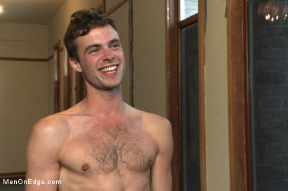Photo number 15 from Brandon Moore edged and fucked by a Shockspot machine shot for Men On Edge on Kink.com. Featuring Brandon Moore in hardcore BDSM & Fetish porn.