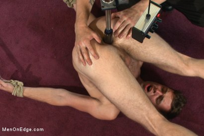 Photo number 14 from Brandon Moore edged and fucked by a Shockspot machine shot for Men On Edge on Kink.com. Featuring Brandon Moore in hardcore BDSM & Fetish porn.