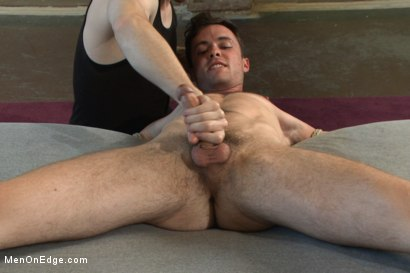 Photo number 8 from Brandon Moore edged and fucked by a Shockspot machine shot for Men On Edge on Kink.com. Featuring Brandon Moore in hardcore BDSM & Fetish porn.