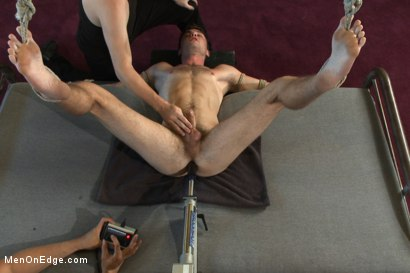 Photo number 7 from Brandon Moore edged and fucked by a Shockspot machine shot for Men On Edge on Kink.com. Featuring Brandon Moore in hardcore BDSM & Fetish porn.