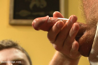 Photo number 5 from Two edging perverts find a captive sex slave by accident shot for Men On Edge on Kink.com. Featuring Jordan Foster in hardcore BDSM & Fetish porn.