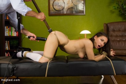 Photo number 10 from Campus Girl's Chronic Masturbation Therapy shot for Hogtied on Kink.com. Featuring Gabriella Paltrova in hardcore BDSM & Fetish porn.