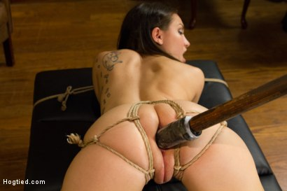 Photo number 8 from Campus Girl's Chronic Masturbation Therapy shot for Hogtied on Kink.com. Featuring Gabriella Paltrova in hardcore BDSM & Fetish porn.