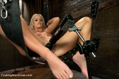 Photo number 2 from Southern Blonde Babe Straddles Machines & Cums like a bucking Filly! shot for Fucking Machines on Kink.com. Featuring Emily Austin in hardcore BDSM & Fetish porn.
