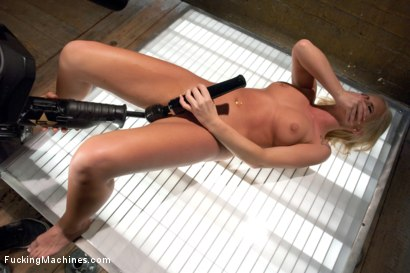 Photo number 13 from Southern Blonde Babe Straddles Machines & Cums like a bucking Filly! shot for Fucking Machines on Kink.com. Featuring Emily Austin in hardcore BDSM & Fetish porn.