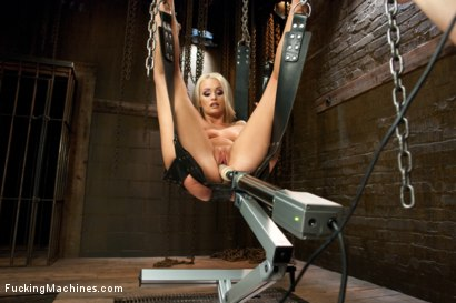 Photo number 12 from Southern Blonde Babe Straddles Machines & Cums like a bucking Filly! shot for Fucking Machines on Kink.com. Featuring Emily Austin in hardcore BDSM & Fetish porn.
