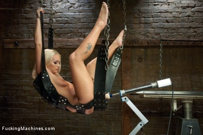 Southern Blonde Babe Straddles Machines & Cums like a bucking Filly!