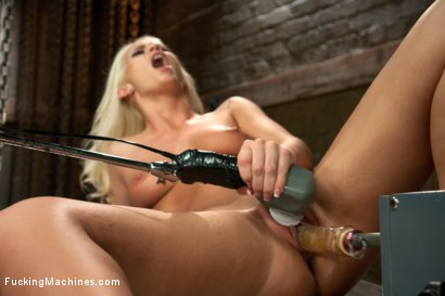Photo number 8 from Southern Blonde Babe Straddles Machines & Cums like a bucking Filly! shot for Fucking Machines on Kink.com. Featuring Emily Austin in hardcore BDSM & Fetish porn.