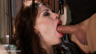 Photo number 1 from Tattooed Slut Gets Fucked Down shot for Fucked and Bound on Kink.com. Featuring Derrick Pierce and Elizabeth Thorn in hardcore BDSM & Fetish porn.