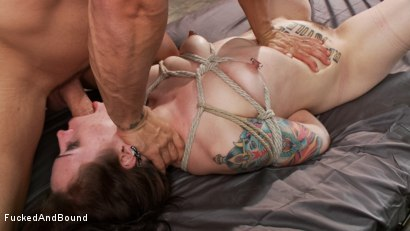 Photo number 11 from Tattooed Slut Gets Fucked Down shot for Fucked and Bound on Kink.com. Featuring Derrick Pierce and Elizabeth Thorn in hardcore BDSM & Fetish porn.