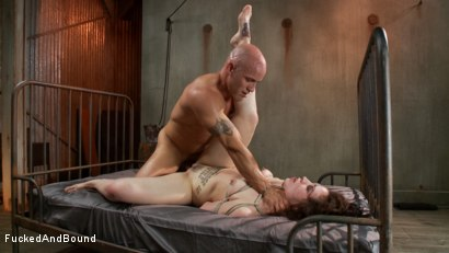 Photo number 13 from Tattooed Slut Gets Fucked Down shot for Fucked and Bound on Kink.com. Featuring Derrick Pierce and Elizabeth Thorn in hardcore BDSM & Fetish porn.