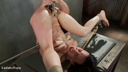 Photo number 10 from This Bitch Will Suffer in My Ropes!!! shot for Sadistic Rope on Kink.com. Featuring Elise Graves in hardcore BDSM & Fetish porn.