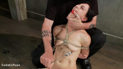 Photo number 13 from This Bitch Will Suffer in My Ropes!!! shot for Sadistic Rope on Kink.com. Featuring Elise Graves in hardcore BDSM & Fetish porn.