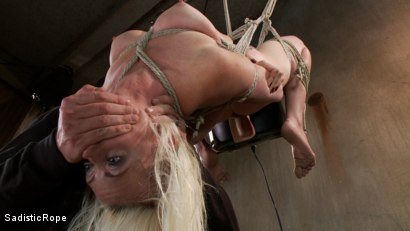 Photo number 9 from <strong>Destroying Lorelei Lee!!</strong><br> Inverted Sybian Suspension Blows her Mind shot for Sadistic Rope on Kink.com. Featuring Lorelei Lee in hardcore BDSM & Fetish porn.